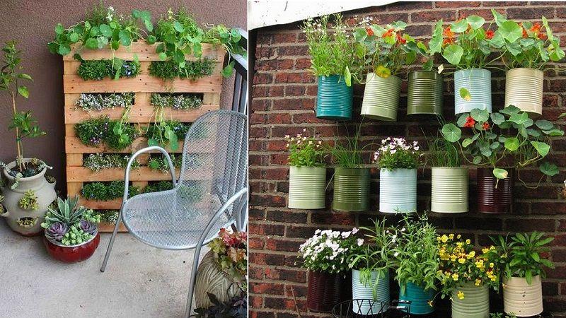 ساخت گلدان با قوطی فلزی