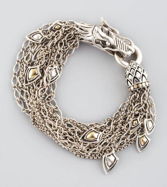 دستبند نقره اژدها