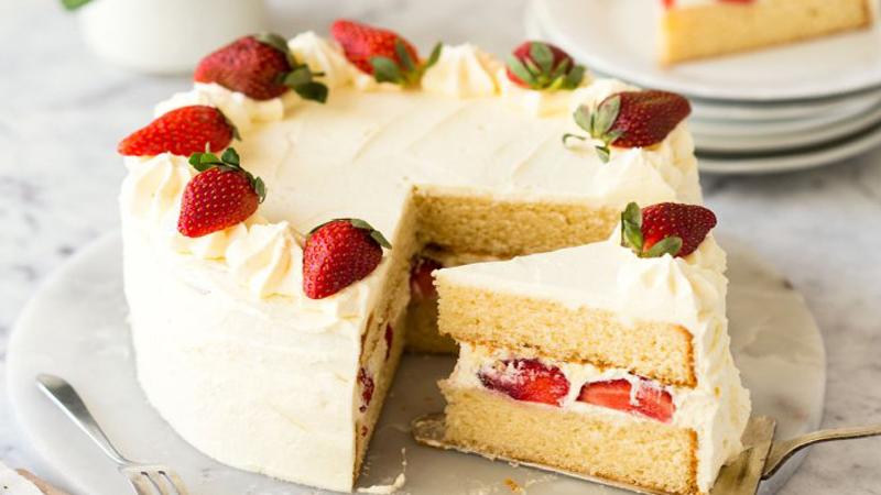 دستور پخت کیک وانیلی اسفنجی